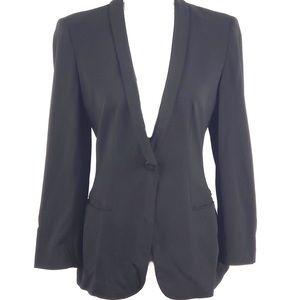 GIORGIO ARMANI rounded collar button fitted blazer